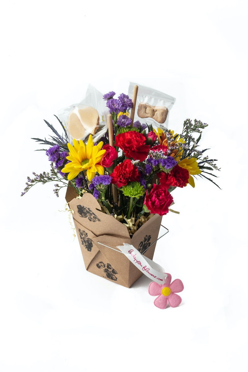 The Bow Wow Lucky You Flower Arrangement