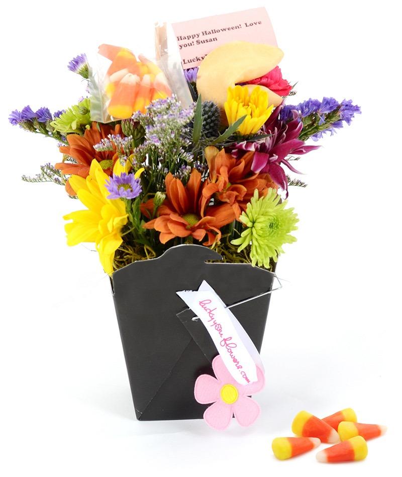 Lucky You Flowers - Halloween arrangement