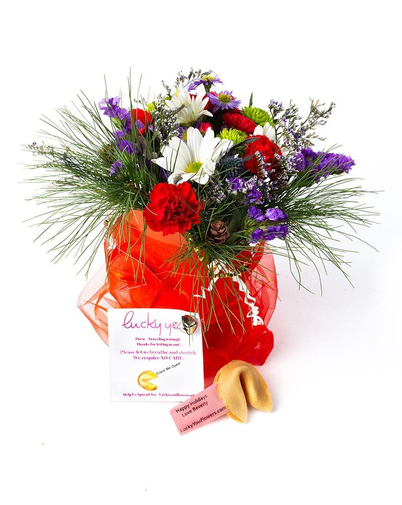 Christmas Lucky You flower arrangement