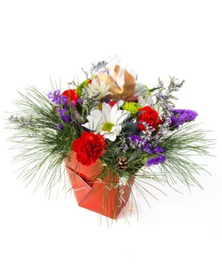 Christmas Lucky You flower arrangement