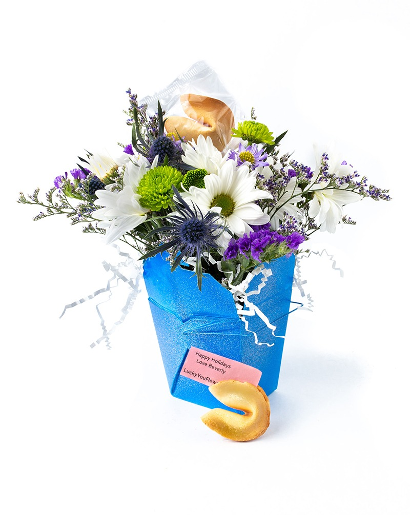 Hanukkah Lucky You Flower Arrangement