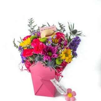 Lucky You Flowers Pretty In Pink Arrangement