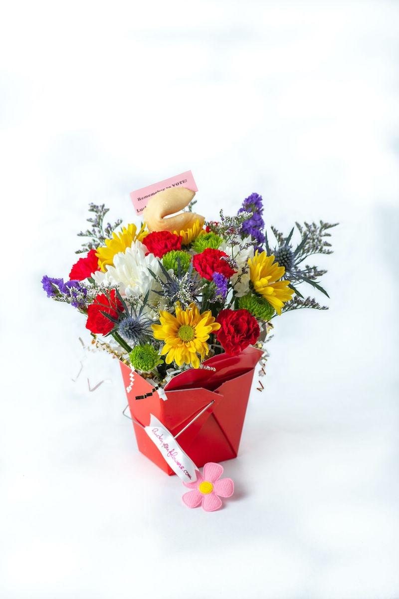 Lucky You Flowers Vote arrangement
