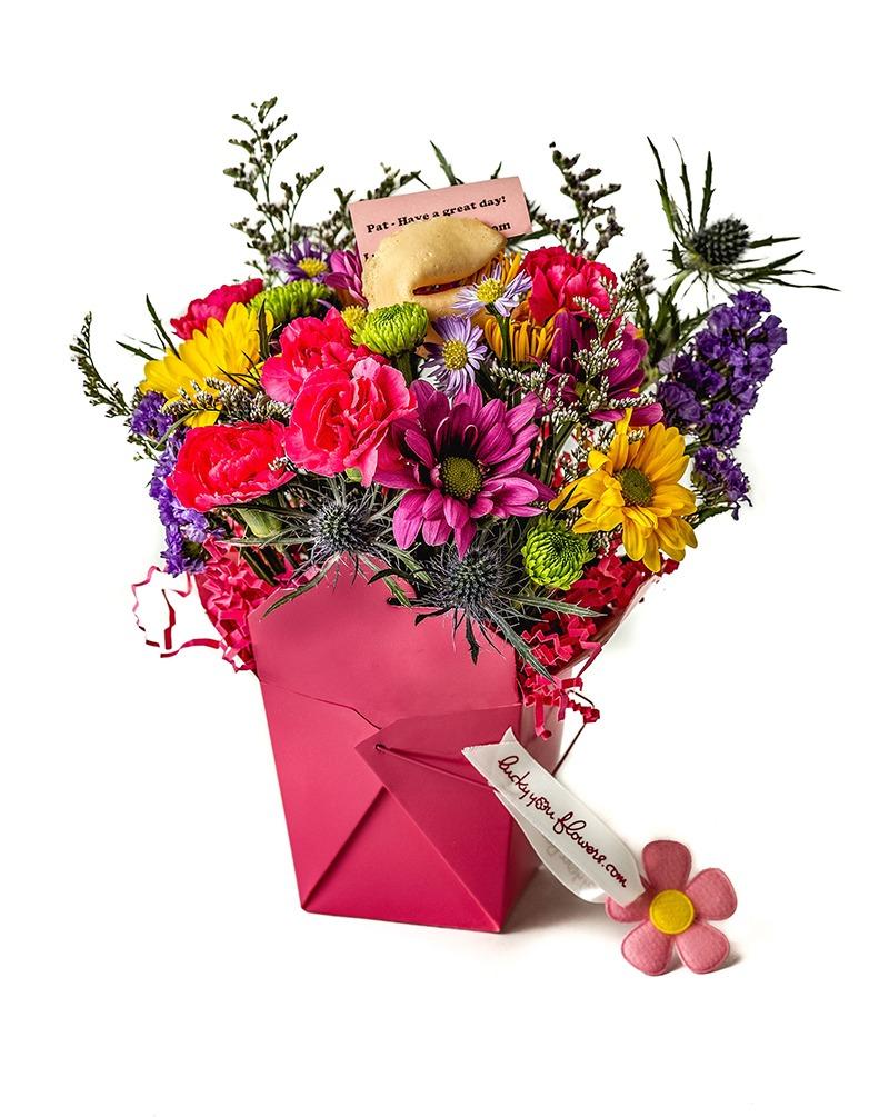 Pretty In Pink Lucky You Flower Arrangement