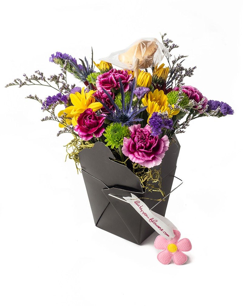 So Sorry Lucky You Flower Arrangement