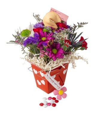Lucky You Flowers Love You Valentines Arrangement